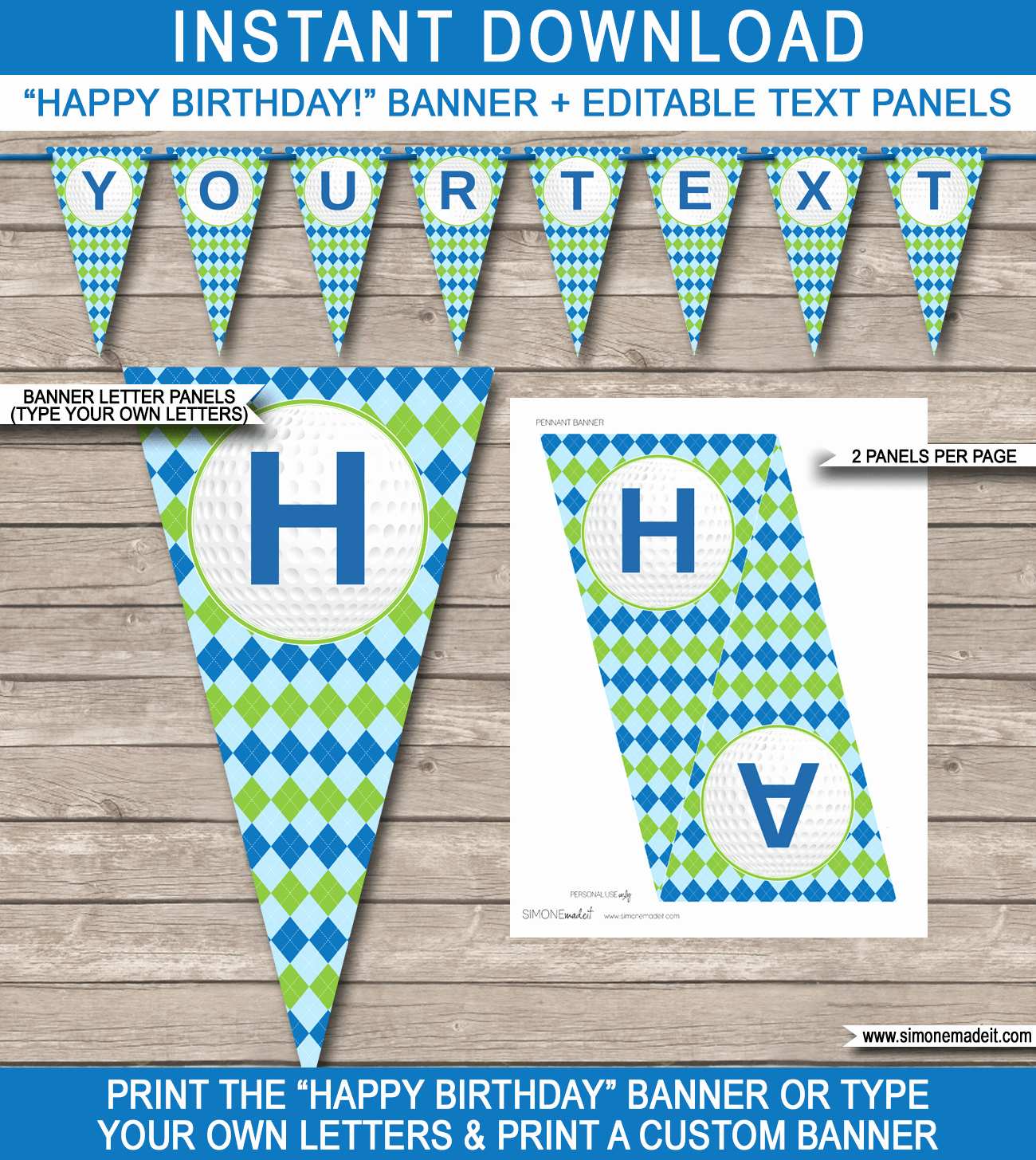 Happy Birthday Banner Template Printable Fresh Golf Party Banner Template