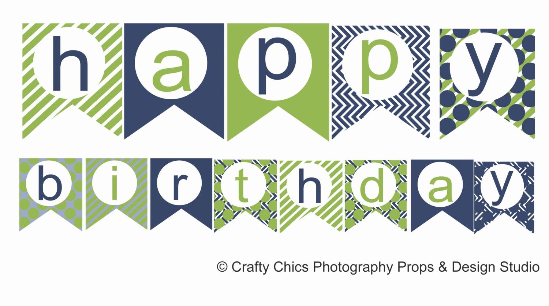 Happy Birthday Banner Template Printable Inspirational Happy Birthday Banner Template Printable