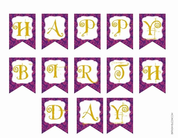 Happy Birthday Banner Template Printable Luxury Ever after High Printable Happy Birthday Party Banner