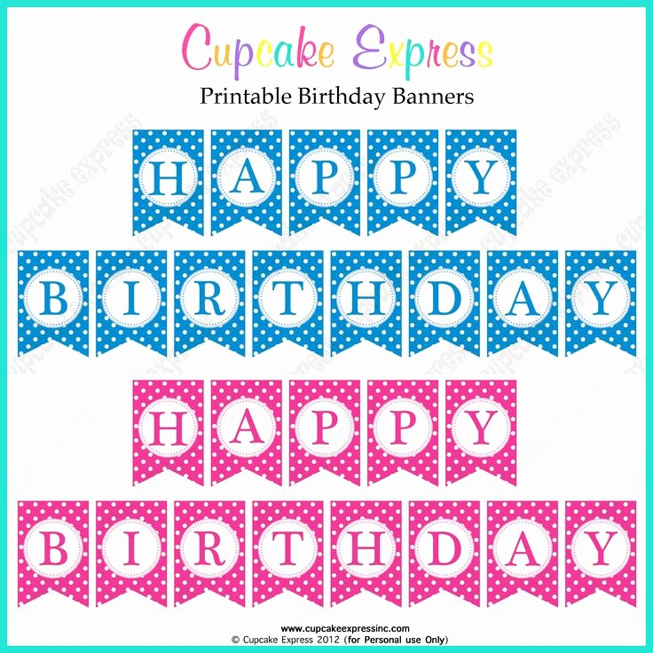 Happy Birthday Banner Template Printable New Free Printable Happy Birthday Banner Templates Printable