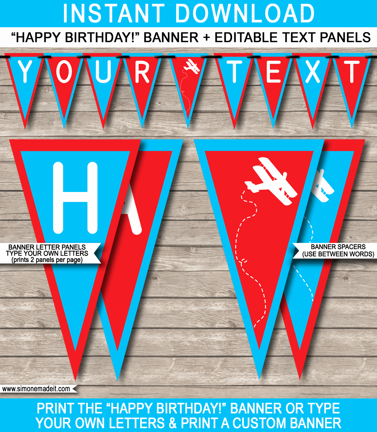 Happy Birthday Banner Template Printable Unique Airplane Birthday Party Banner Template