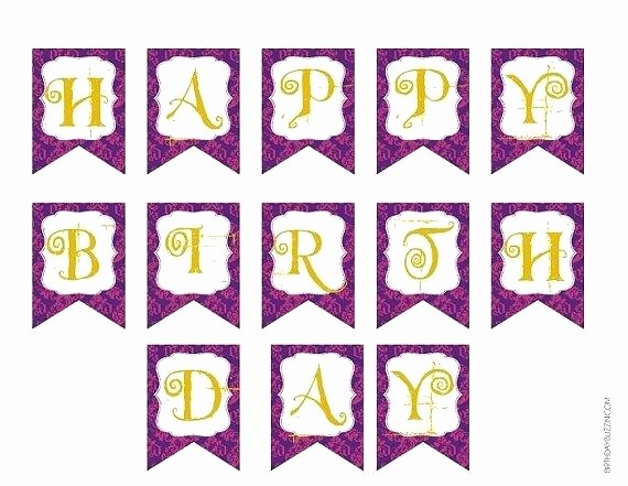 Happy Birthday Banner Template Printable Unique Happy Birthday Letters Printable Template Banner Letter