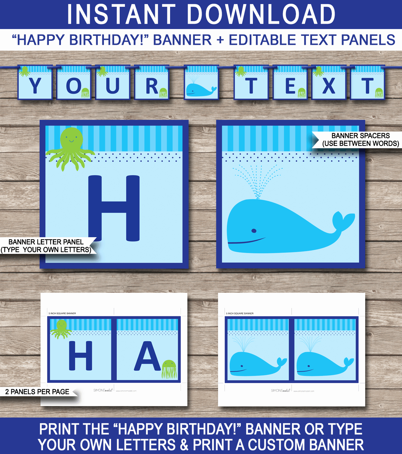 Happy Birthday Banner Template Printable Unique Under the Sea Party Banner Template