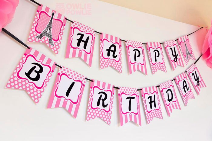 Happy Birthday Banner with Name Beautiful Happy Birthday Banner with Name and First Birthday