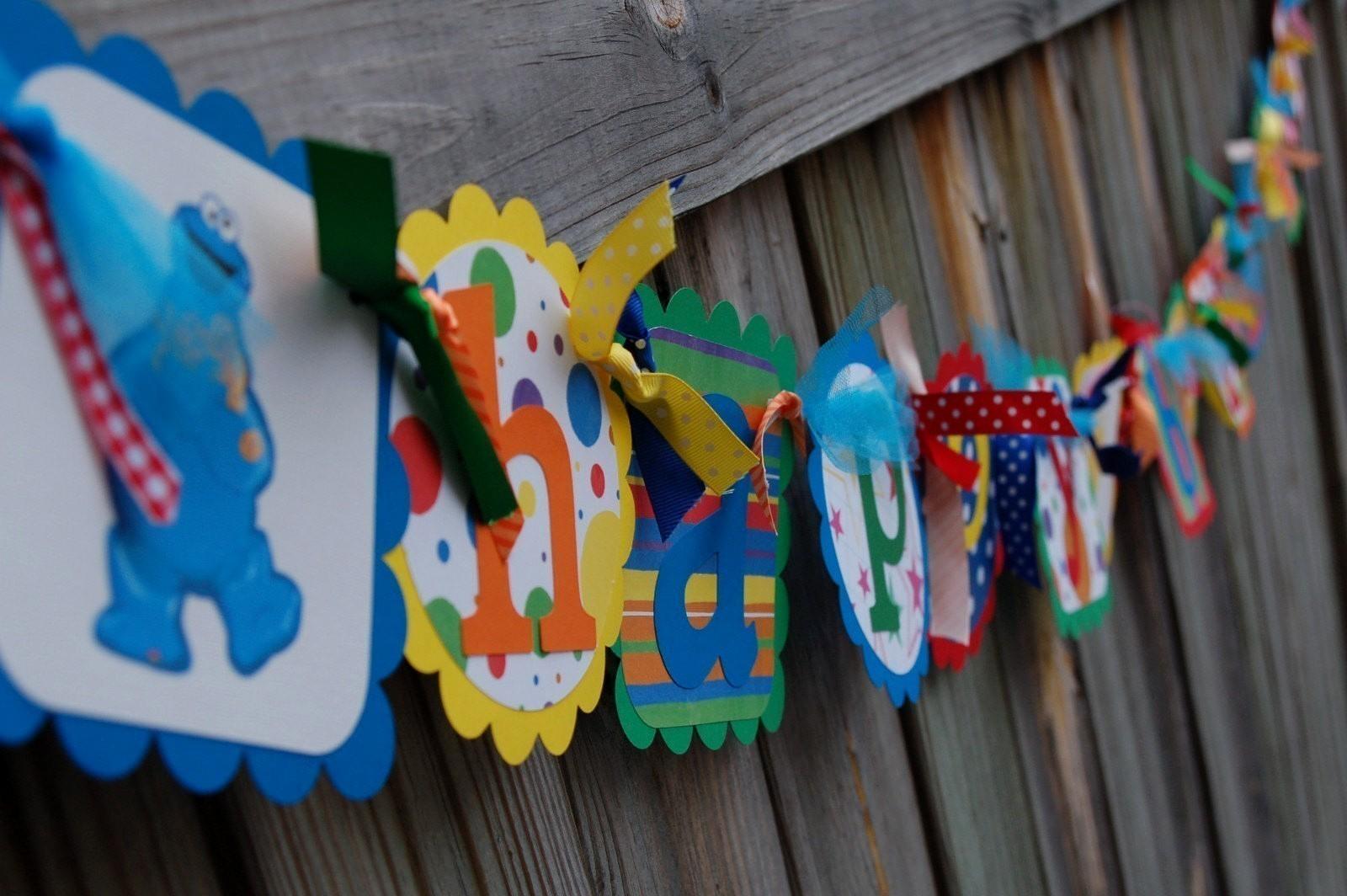 Happy Birthday Banner with Name Best Of Sesame Street Happy Birthday Banner Elmo Cookie Monster Big