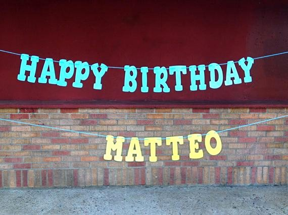 Happy Birthday Banner with Name Elegant Happy Birthday Banner with First Name Name Banner Custom