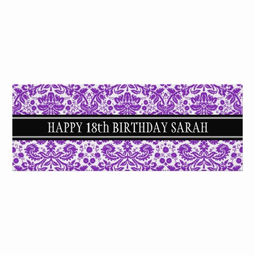 Happy Birthday Banner with Name Elegant Happy Birthday Custom Year Name Banner