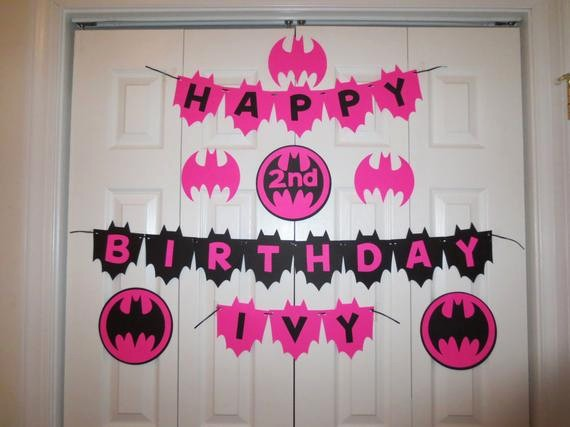 Happy Birthday Banner with Name Fresh Batgirl Happy Birthday Banner Personalized with Name