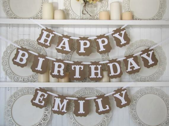Happy Birthday Banner with Name Fresh Custom Name Happy Birthday Banner Birthday Sign Birthday