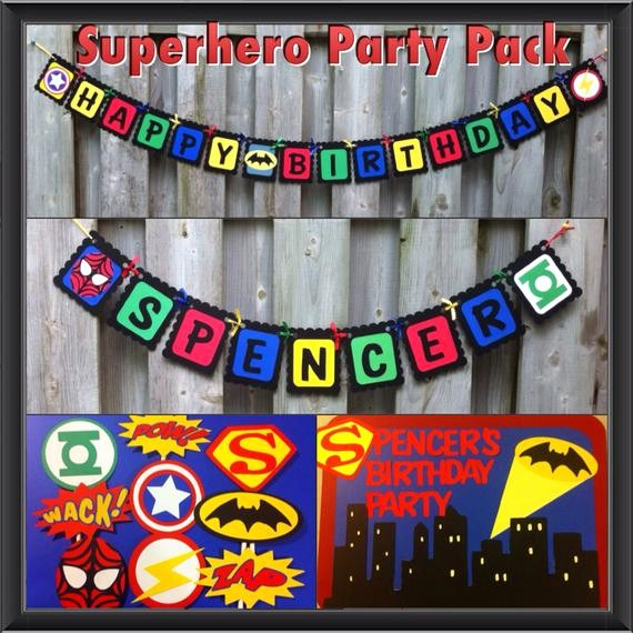 Happy Birthday Banner with Name Inspirational Superhero Party Pack Happy Birthday Banner Super Hero Door