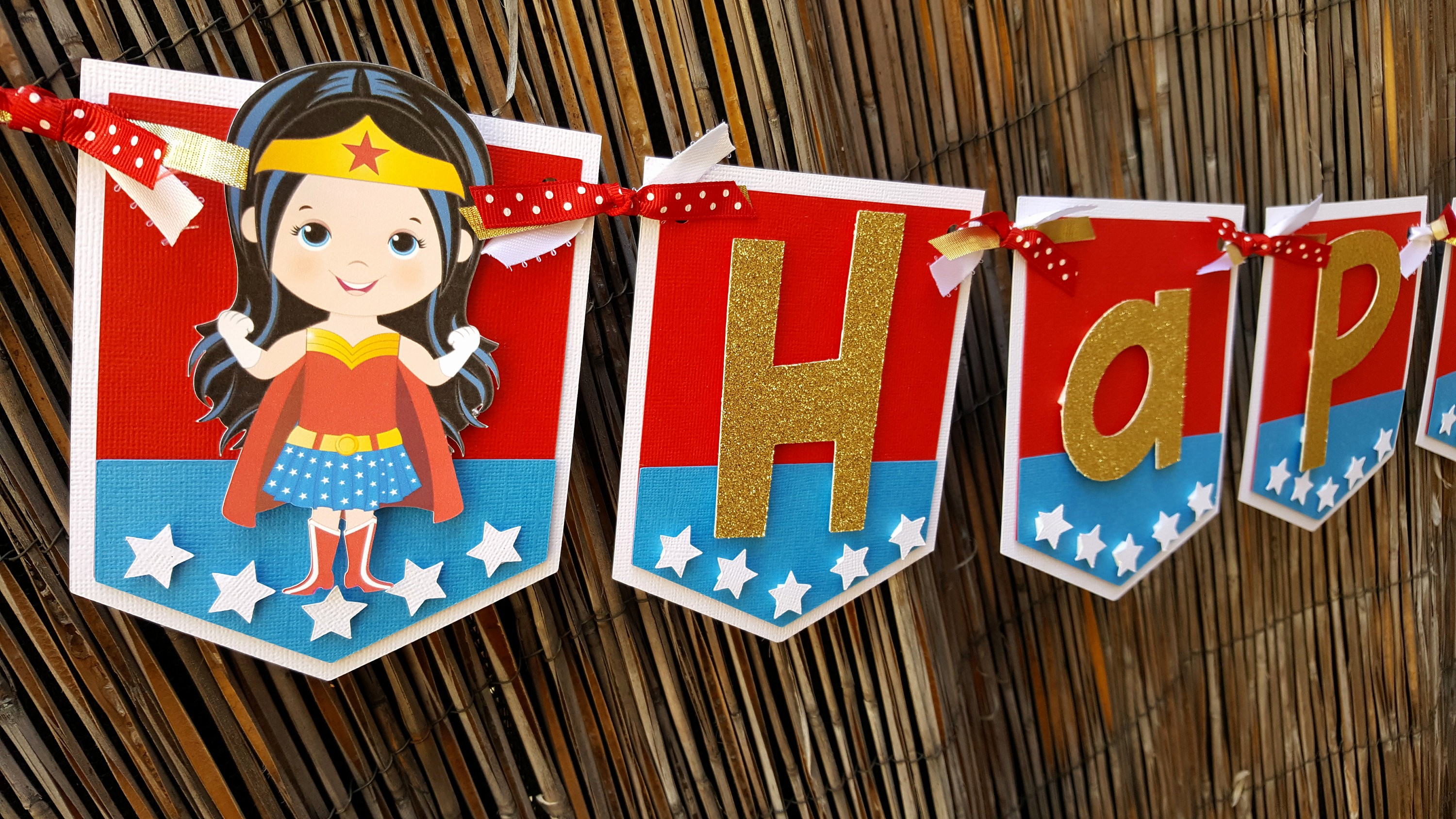 Happy Birthday Banner with Name Inspirational Wonder Woman Happy Birthday or Name Banner Wonder Woman