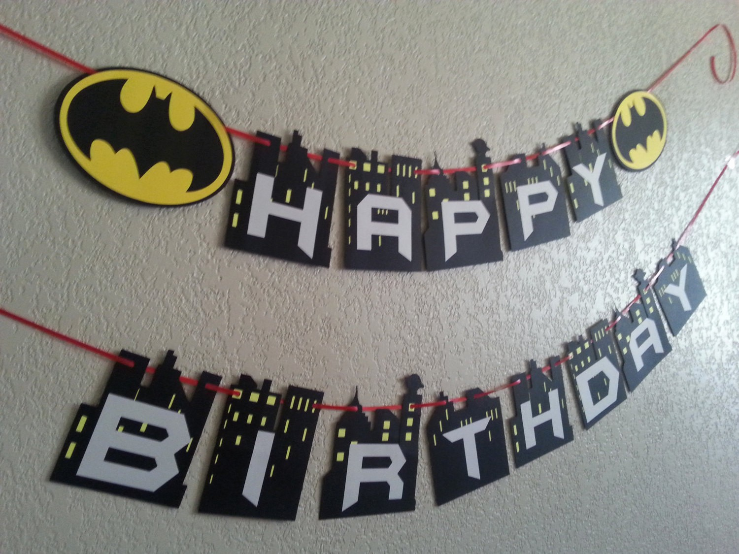 Happy Birthday Banner with Name Lovely Batman Happy Birthday Banner Can Be Personalized with Name