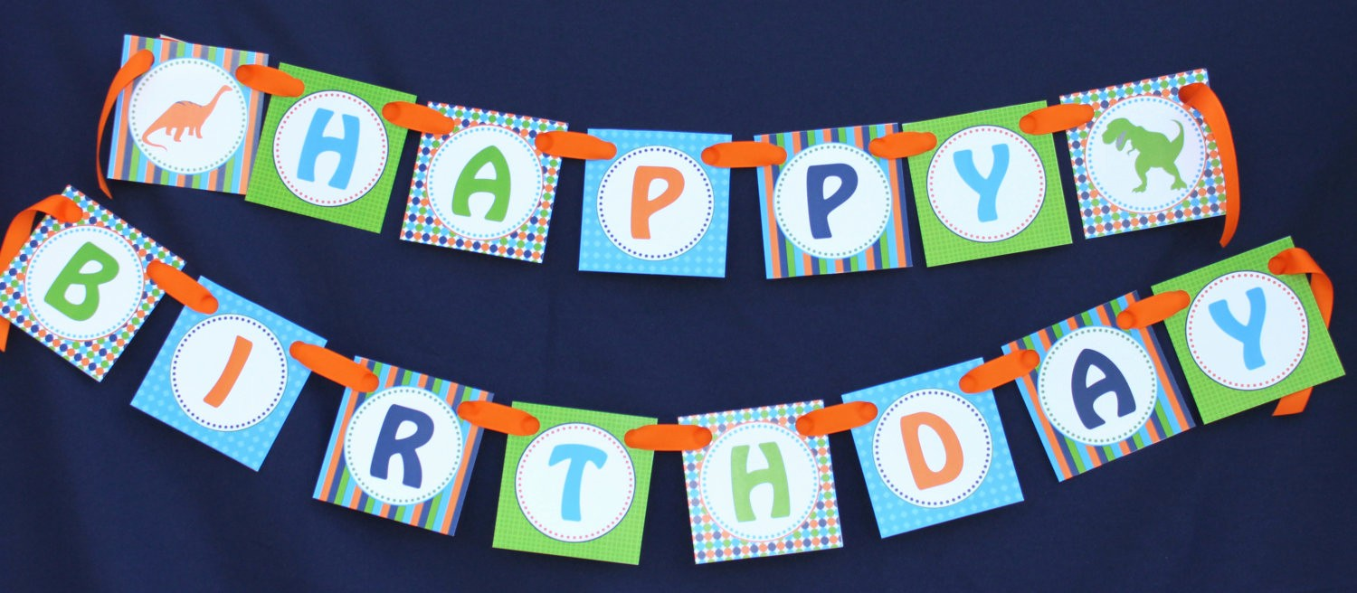 Happy Birthday Banner with Name Lovely Dinosaur Diy Banner Birthday Collection Printable Party Happy