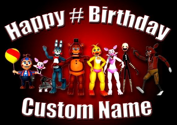Happy Birthday Banner with Name Lovely Fnaf Happy Birthday Custom Name and Age Poster Size Banner