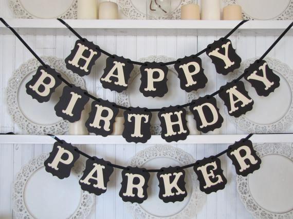 Happy Birthday Banner with Name Luxury Custom Name Happy Birthday Banner Happy Birthday Sign