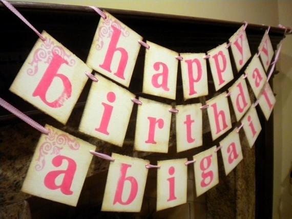 Happy Birthday Banner with Name Luxury Items Similar to Happy Birthday Banner Customized with