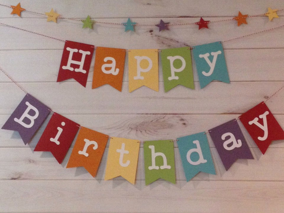 Happy Birthday Banner with Name Luxury Rainbow Happy Birthday Banner with Star Garland Birthday