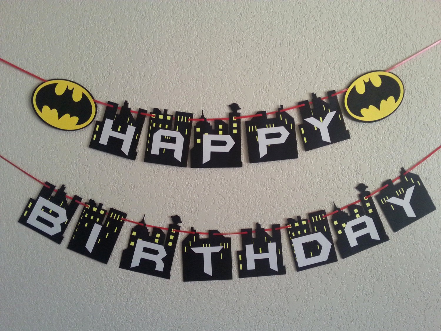 Happy Birthday Banner with Name New Batman Happy Birthday Banner Can Be Personalized with Name