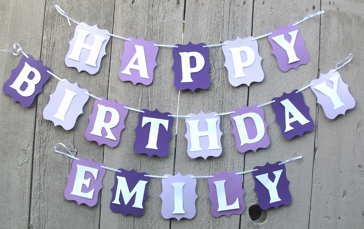 Happy Birthday Banner with Name New Happy Birthday Banner Birthday Banner Personalized Name