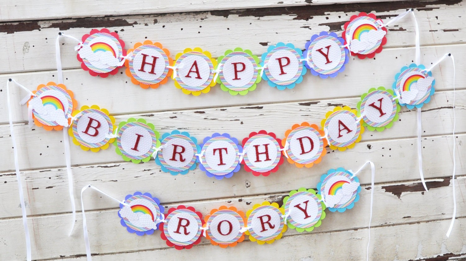 Happy Birthday Banner with Name New Rainbow Happy Birthday Banner with Name Girl 1st Birthday