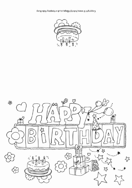 Happy Birthday Certificate Free Printable Best Of Happy Birthday Colouring Card Other Holidays