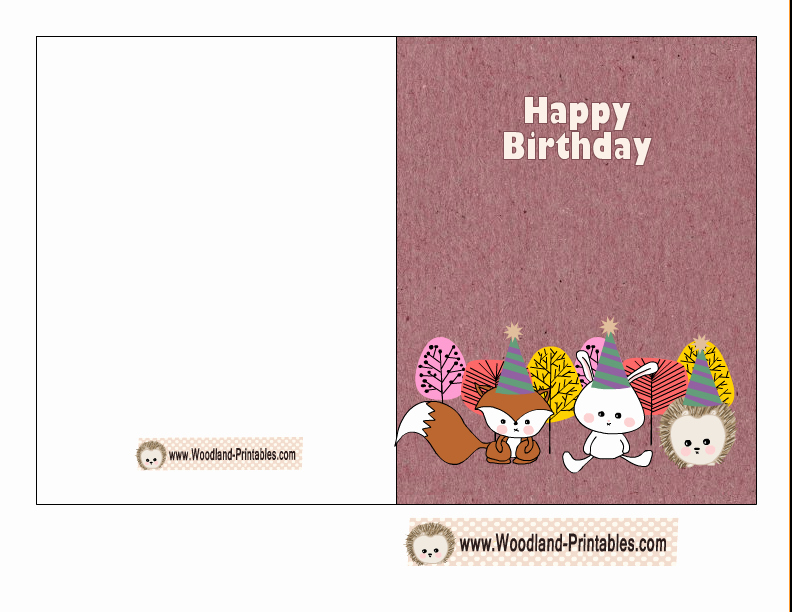 Happy Birthday Certificate Free Printable Elegant Free Printable Woodland Birthday Cards
