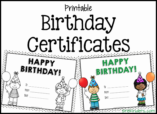 Happy Birthday Certificate Free Printable Fresh Birthday Crown Certificate Chart Prekinders