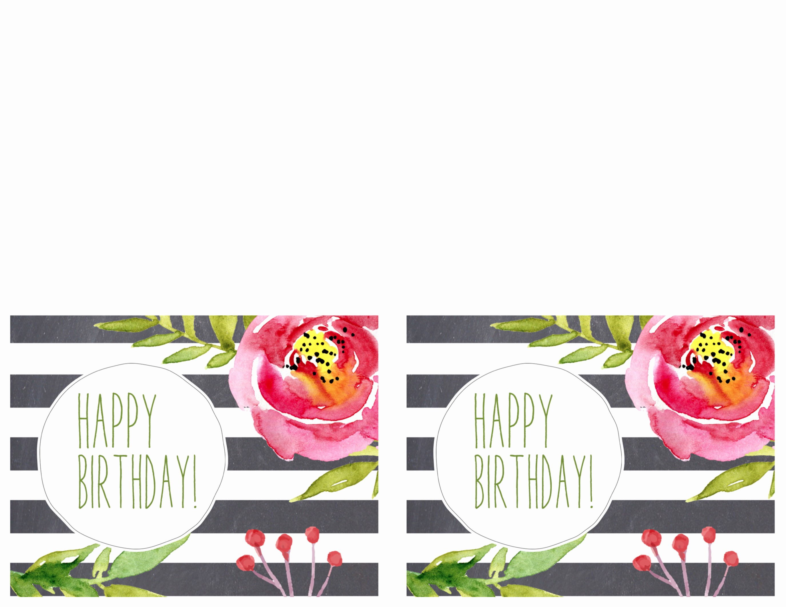 Happy Birthday Certificate Free Printable Inspirational Free Printable Greeting Cards Thank You Thinking Of You