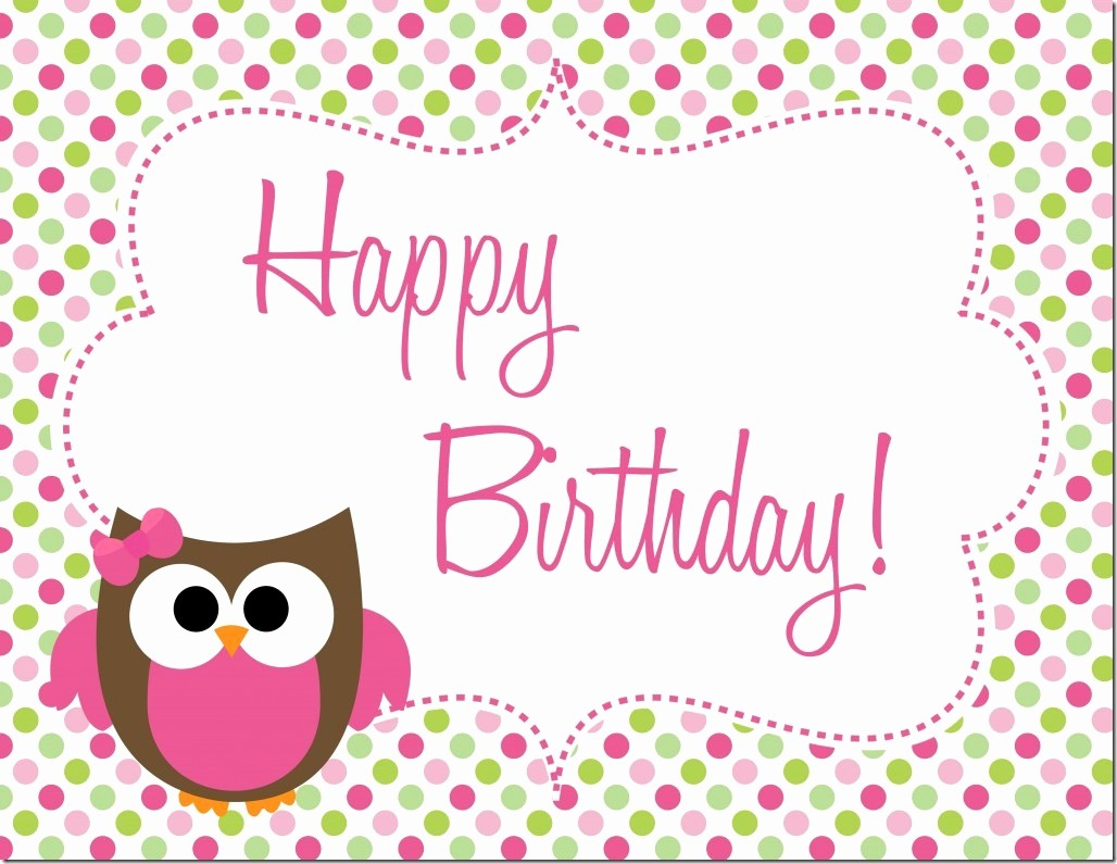 Happy Birthday Certificate Free Printable Inspirational Owl Birthday Party Free Printables
