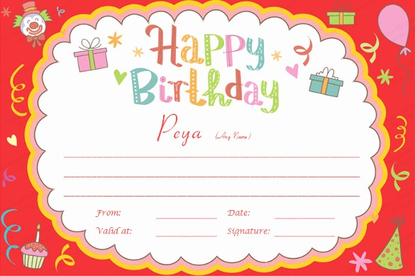 Happy Birthday Certificate Free Printable Lovely 23 Birthday Certificate Templates Psd Eps In Design
