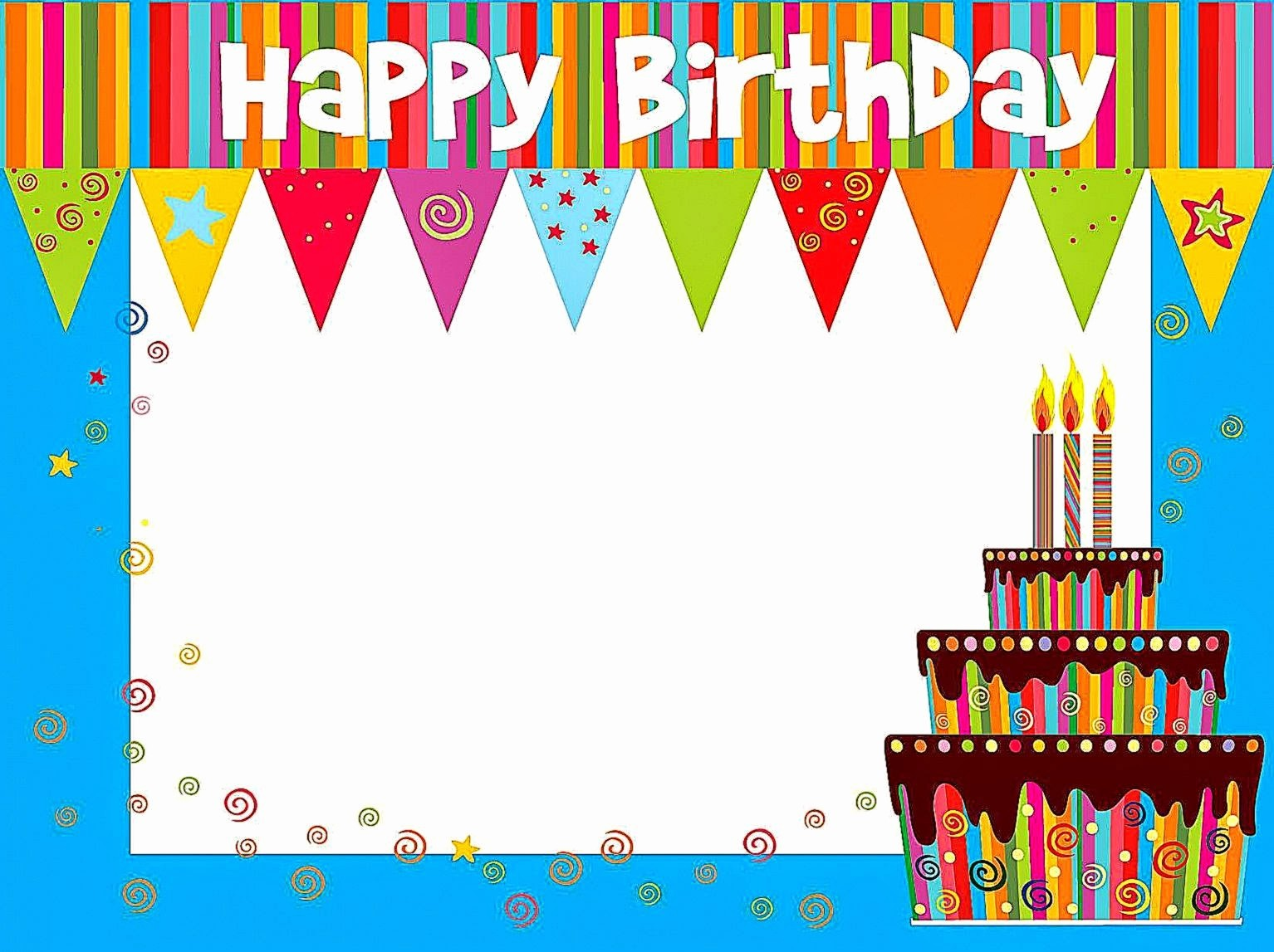 Happy Birthday Certificate Free Printable Luxury Birthday Card Borders – Best Happy Birthday Wishes
