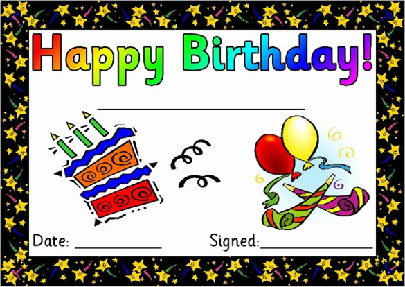 Happy Birthday Certificate Free Printable New 25 Birthday Certificate Templates Psd Eps In Design