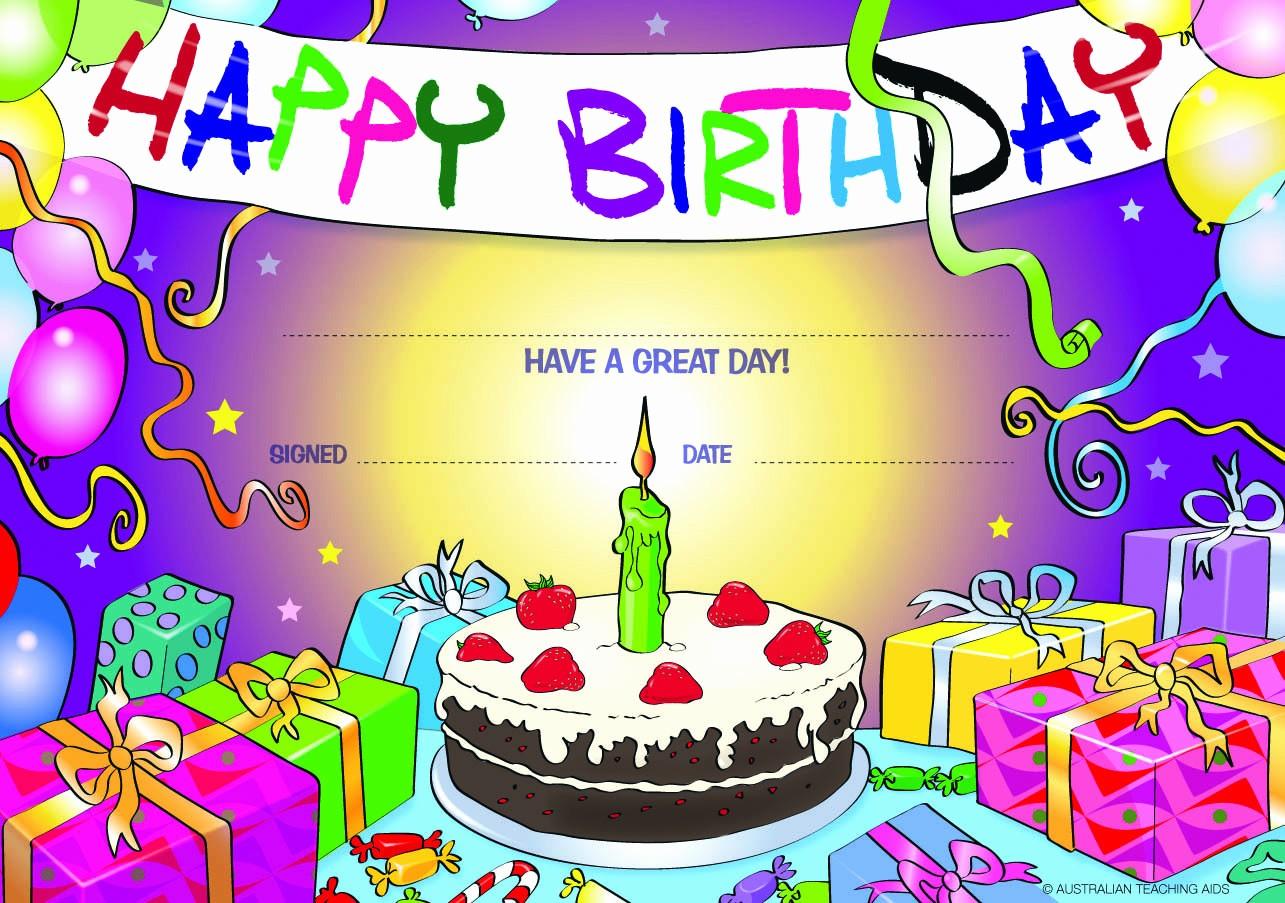 Happy Birthday Certificate Free Printable Unique Happy Birthday Certificate From Teacher to Student