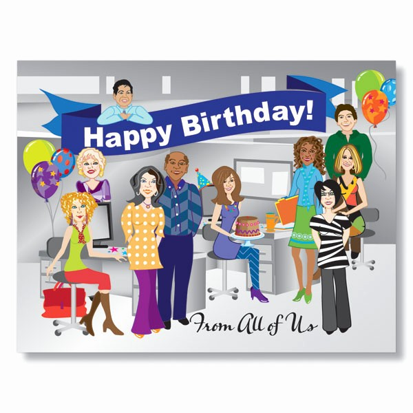 Happy Birthday From the Office Luxury From the Staff Birthday Card