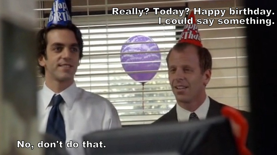 Happy Birthday From the Office New Remember that One Time On the Fice Happy 33rd Birthday