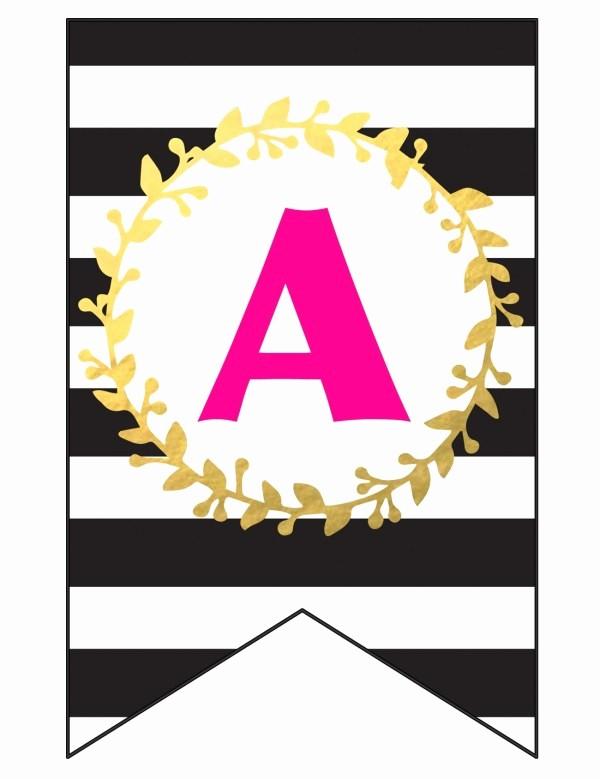 Happy Birthday Letters to Print Elegant Free Printable Happy Birthday Banner and Alphabet Six