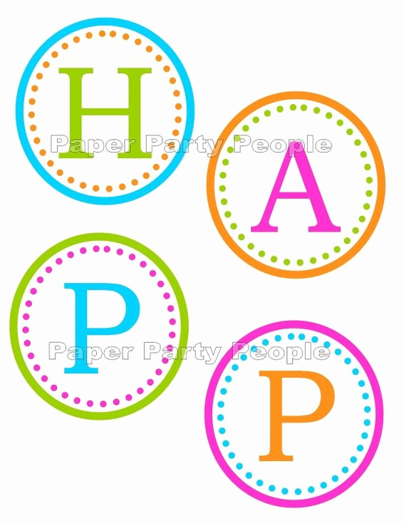Happy Birthday Letters to Print Fresh Happy Birthday Banner Printable Diy 3 5 Circles Favor