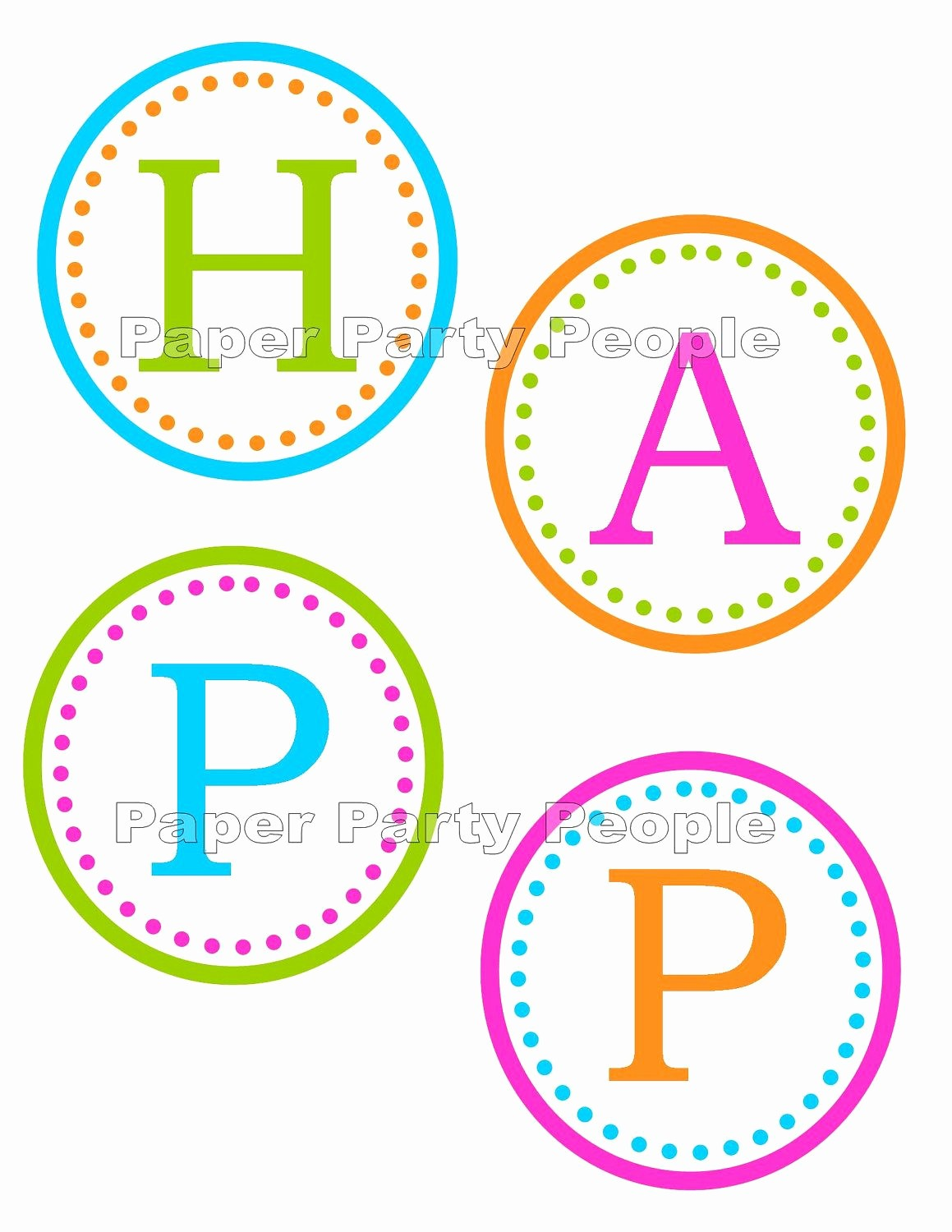 Happy Birthday Letters to Print Inspirational Printable Birthday Banner Letters