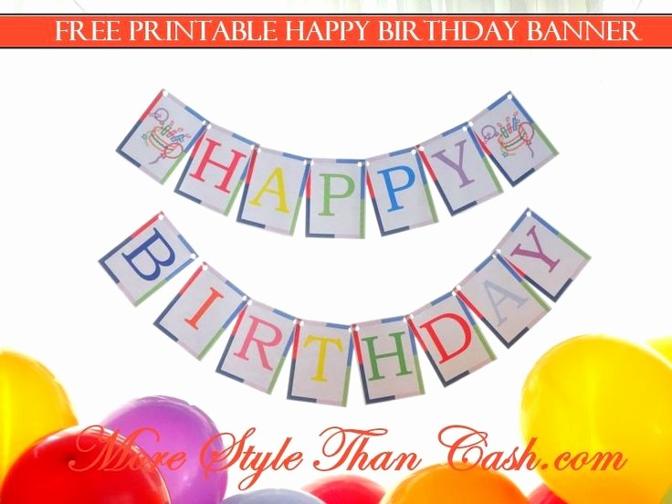 Happy Birthday Letters to Print Lovely 1000 Ideas About Printable Birthday Banner On Pinterest