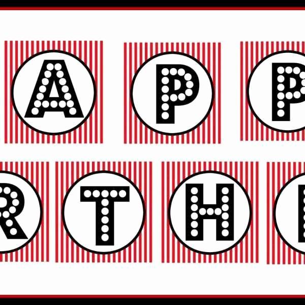 Happy Birthday Letters to Print Unique Happy Birthday Banner Printable Pdf Luxury Free Printable