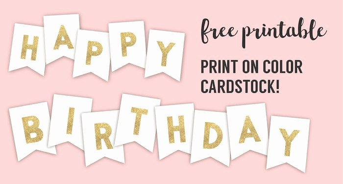 Happy Birthday Signs to Print Beautiful Happy Birthday Banner Printable Template Paper Trail Design