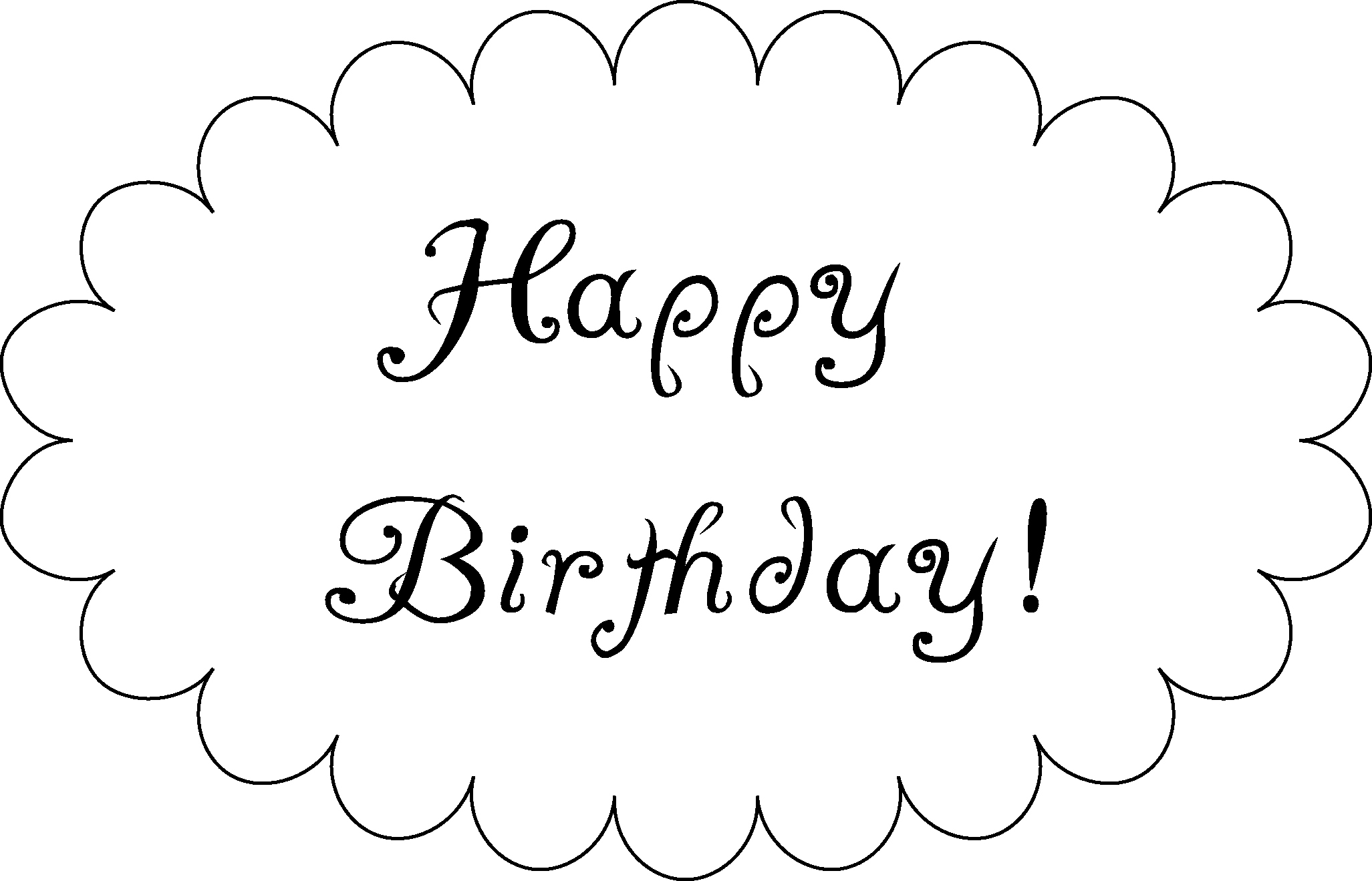 Happy Birthday Signs to Print Best Of Happy Birthday to Print Clipart Best