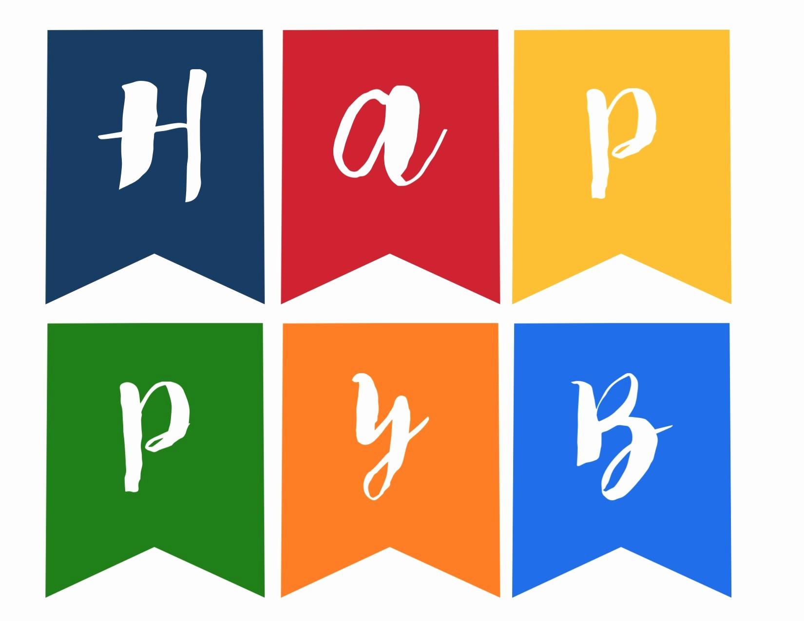 Happy Birthday Signs to Print Elegant Happy Birthday Banner Free Printable Paper Trail Design