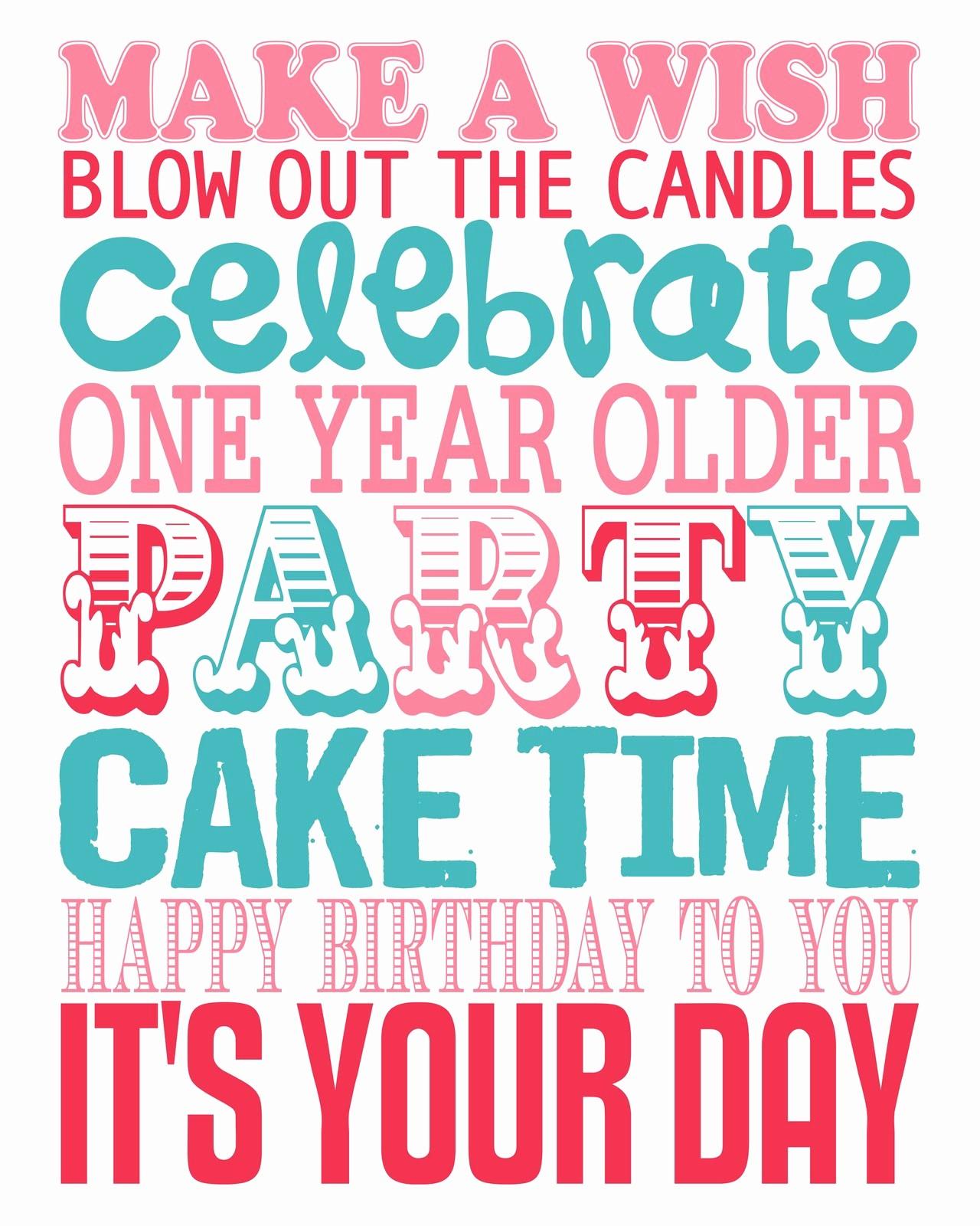 Happy Birthday Signs to Print Fresh Happy Birthday – Subway Art Printable