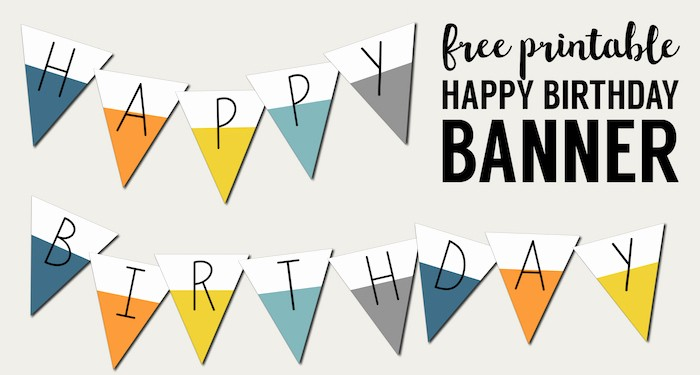Happy Birthday Signs to Print Inspirational Free Printable Happy Birthday Banner Paper Trail Design