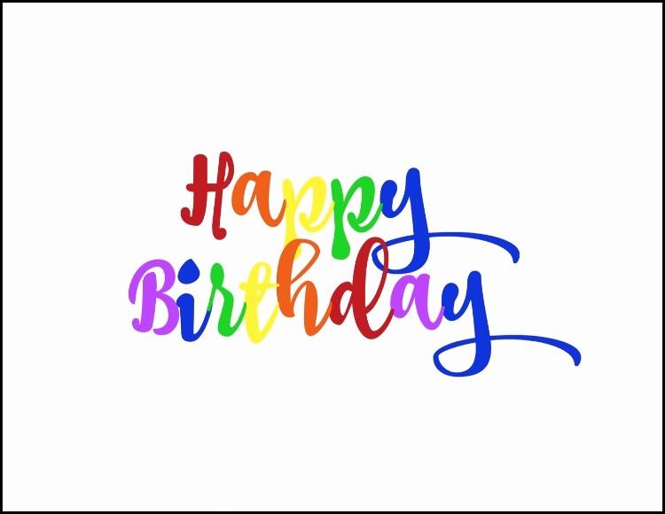 Happy Birthday Signs to Print Inspirational Free Rainbow Happy Birthday Printable Oh My Creative