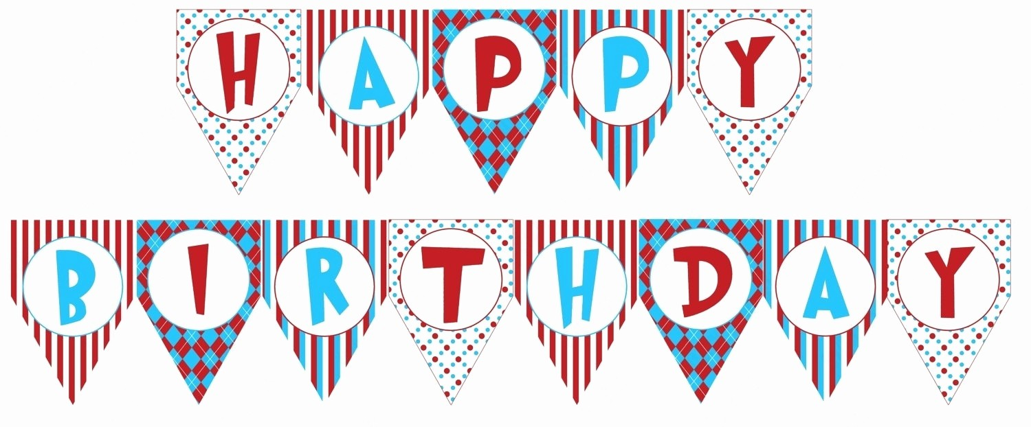 Happy Birthday Signs to Print Lovely Birthday Banner Template Printable