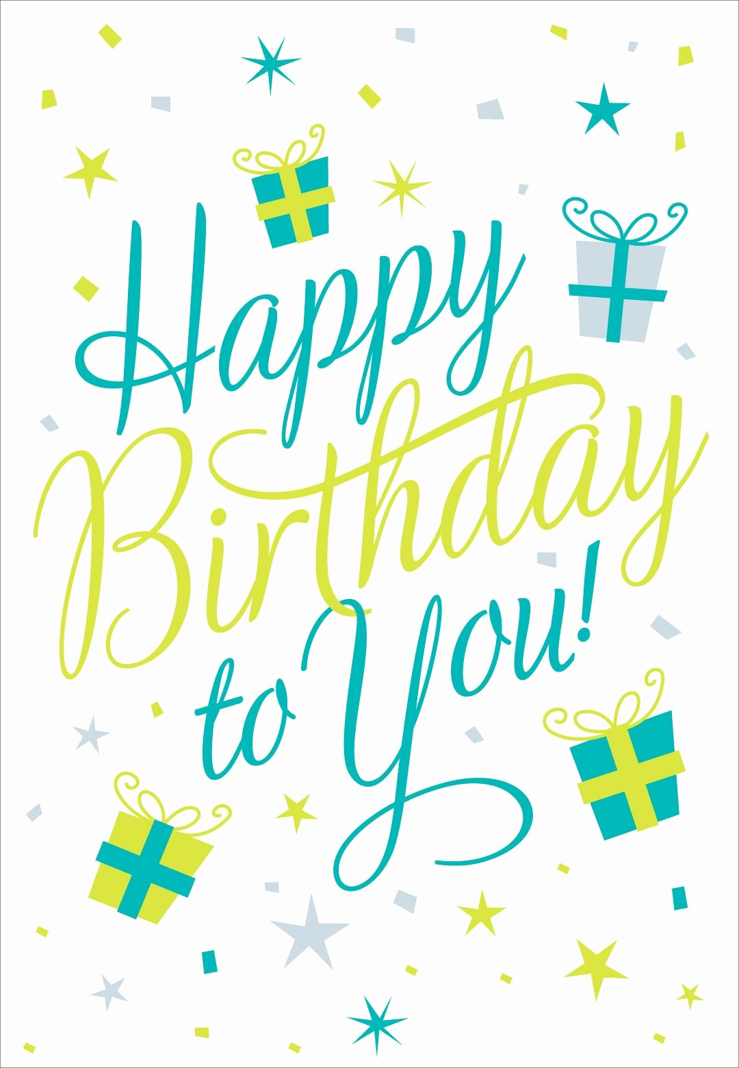 Happy Birthday Signs to Print Lovely Free Printable Happy Birthday to You Greeting Card