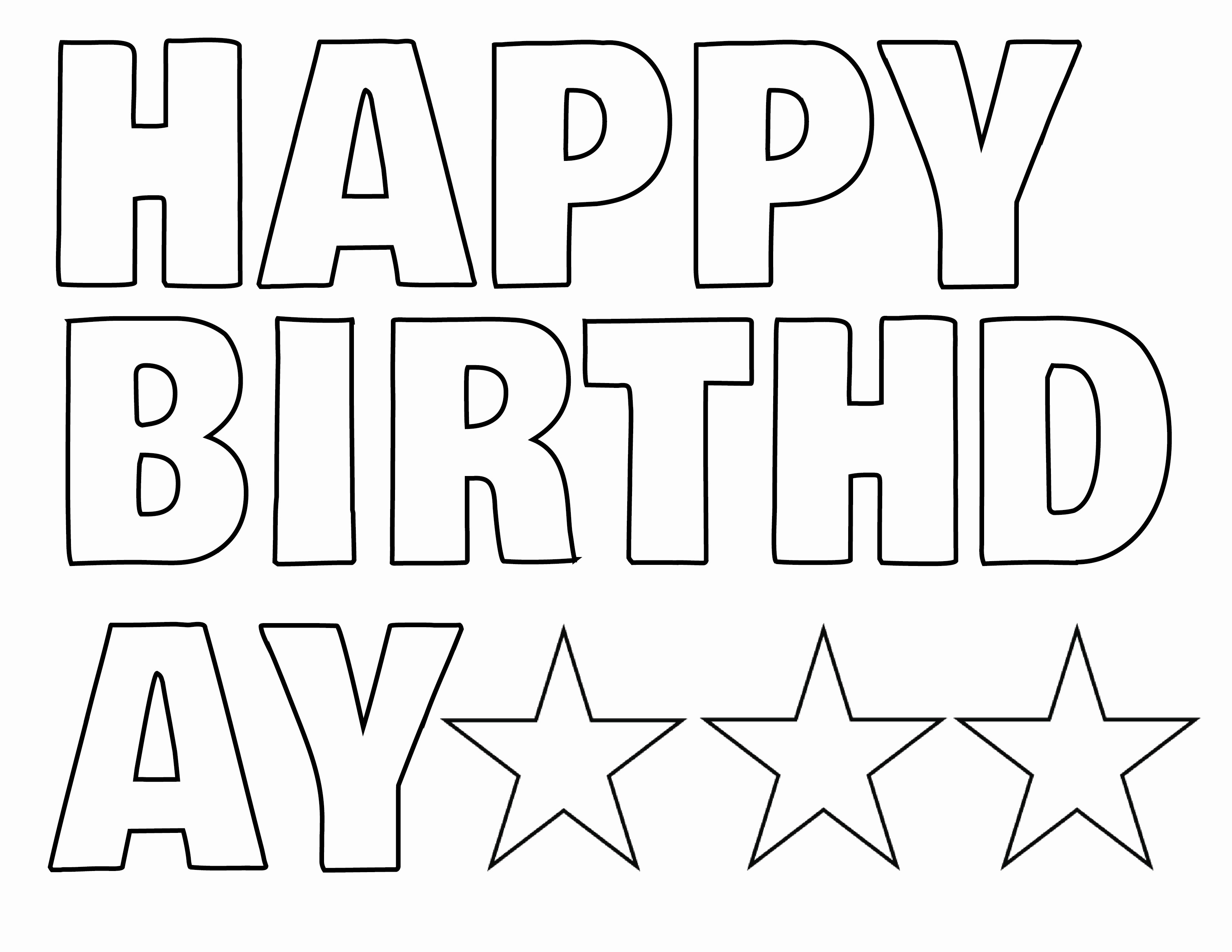 Happy Birthday Signs to Print Luxury Happy Birthday Letters to Print Printable 360 Degree