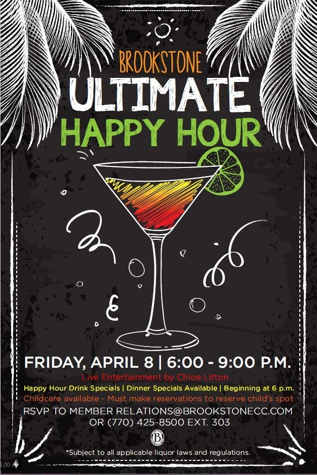 Happy Hour Flyer Template Free Awesome Happy Hour event Flyer Poster Template Misc